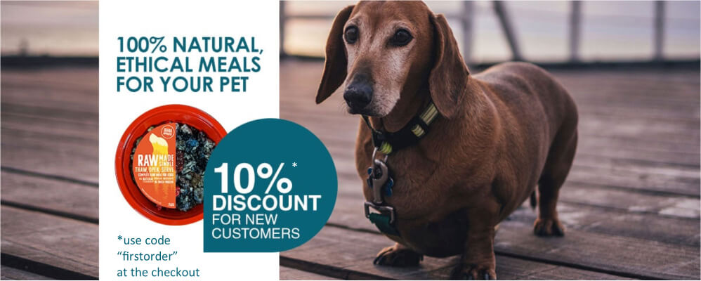 Raw dog food from Raw made simple