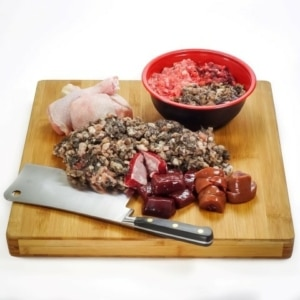 Beef and turkey raw dog food