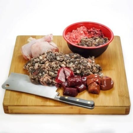 Beef and turkey raw dog food