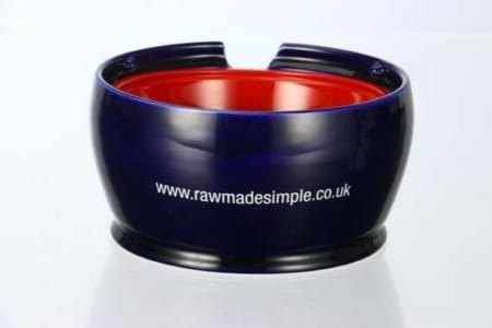 Ceramic Bowl Holder Raw dog food meal from Raw Made Simple