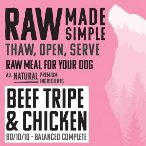 1016 Chicken and beef raw dog food
