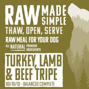 1195 Turkey Lamb and Beef raw dog food