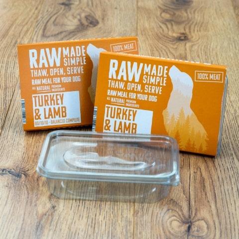 Turkey and Lamb Mince Raw Dog Food Meal