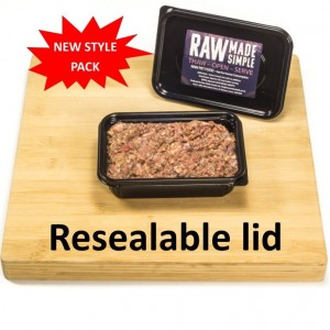 Raw Dog Food 500g container beef tripe and chicken from Raw Made Simple
