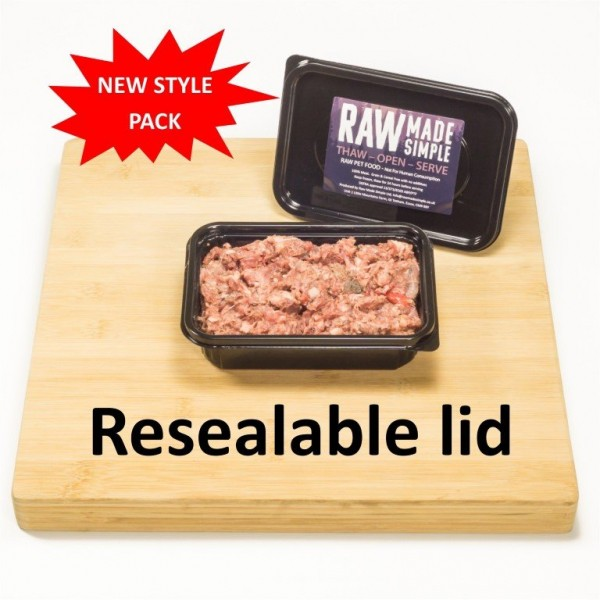 Raw Dog Food 500g container Raw Made Simple