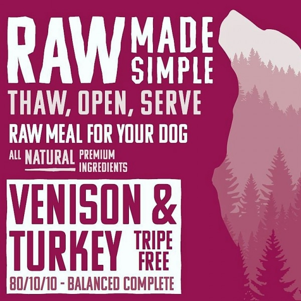 Venison and Turkey Raw Dog Food meal