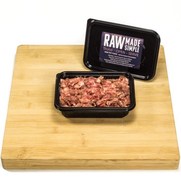 Tripe Free Turkey and Beef raw dog food from Raw Made Simple