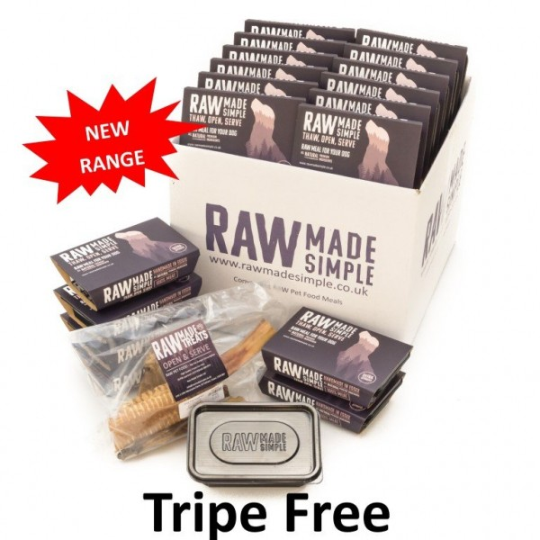 Tripe Free Selection Hamper 20 Meals frozen Raw Dog Food Meals Delivered