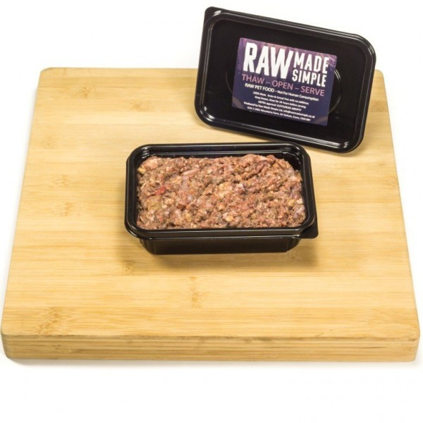 Raw Dog Food 500g container beef tripe and chicken Raw Dog Food Raw Made Simple