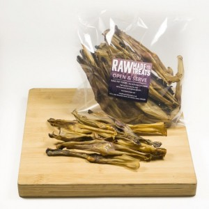 Dried Rabbit Ears Dog Food Chew and Treat Raw Dog Food Raw Made Simple