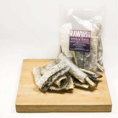 Dried Salmon Jerky 100g Dog Food Chew and Treat Raw Dog Food Raw Made Simple