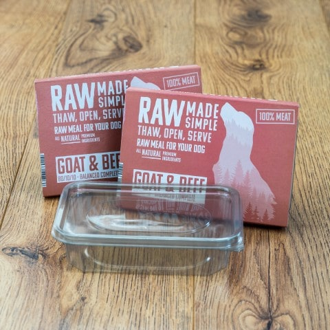 Goat and Beef Raw Dog Food meal