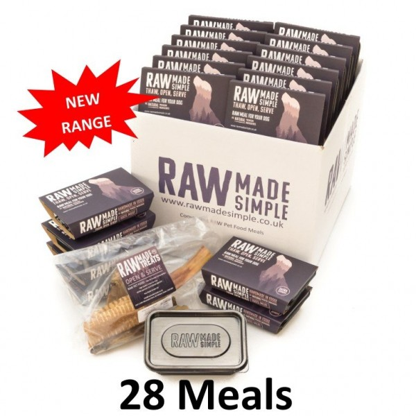 eBay Selection Hamper 28 Meals Raw made Simple Frozen Dog food meat