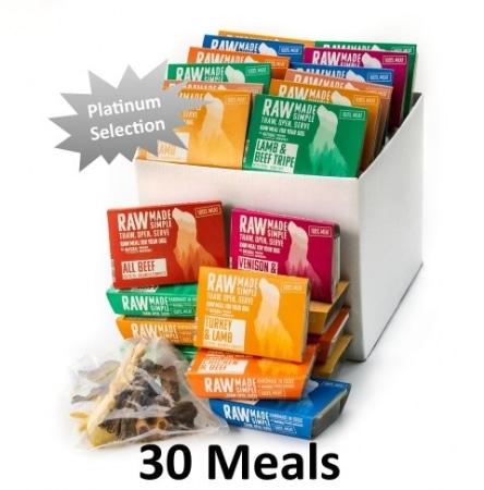 Platinum Hamper Selection of 3 raw dog food meals