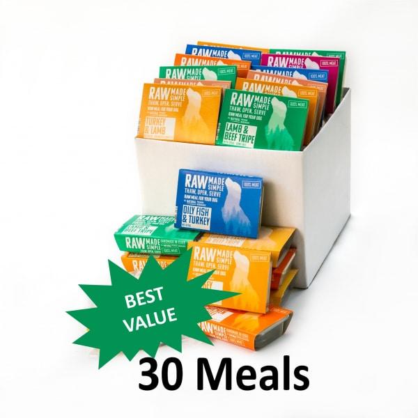 Value Hamper Selection Raw Dog Food 30 meals