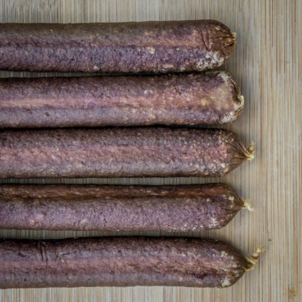 Venison Sausage, Dried Dog Food Treat, Raw Made SImple