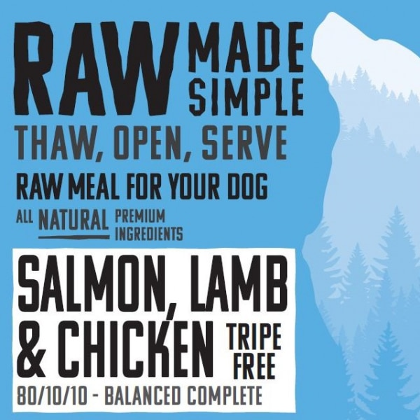 2631 Salmon Lamb Chicken Raw Dog Food