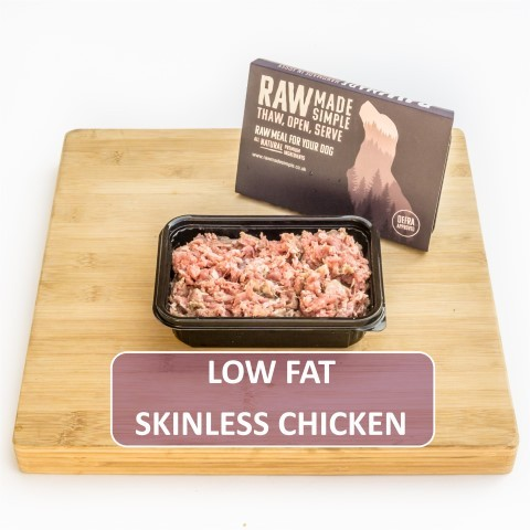 Low Fat Chicken complete Raw Dog Food meat