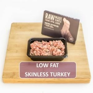 Low Fat Turkey Raw Dog Food Meat
