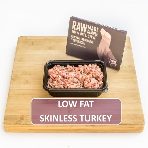Low Fat Turkey Raw Dog Food Meat