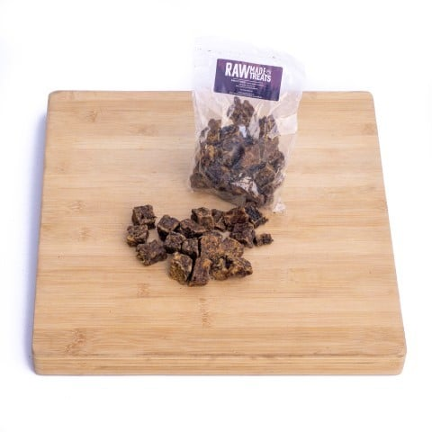 Dried Venison Treat Bag SKU 9536, Raw Made Simple (1)