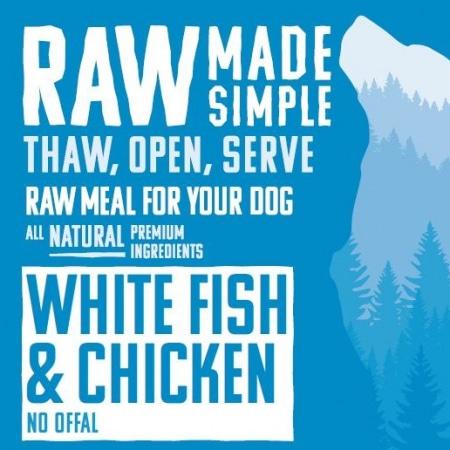 1250 White Fish Raw Dog Food