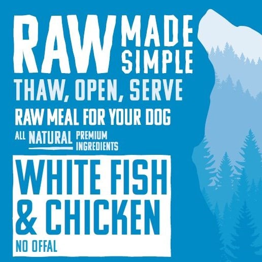 1250 White Fish Raw Dog Food