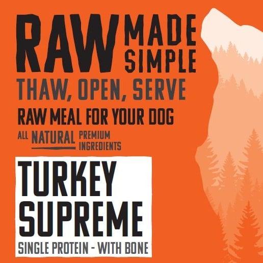 2168 Turkey Supreme Raw Dog Food