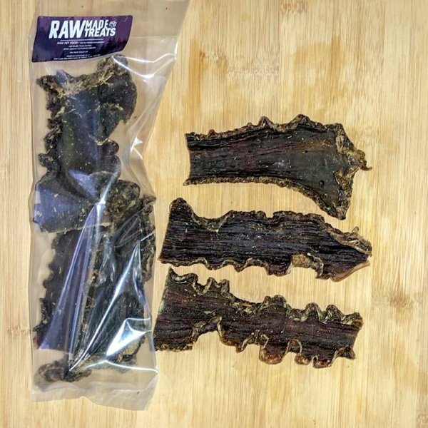 Dried Beef Gullet 3 pack Raw Dog Treat
