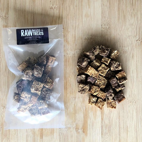 Venison Cubes Dried Treat Raw Dog Food