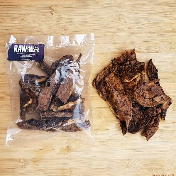Dried Beef Lung Jerky, Raw dog food