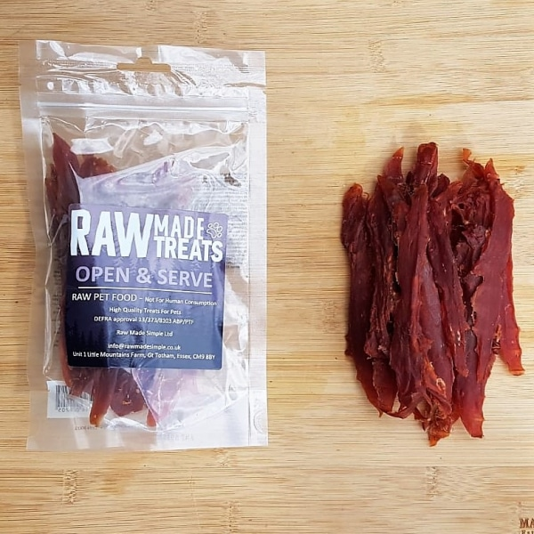 Duck Strips Dried 100g Pack, Raw Dog Food