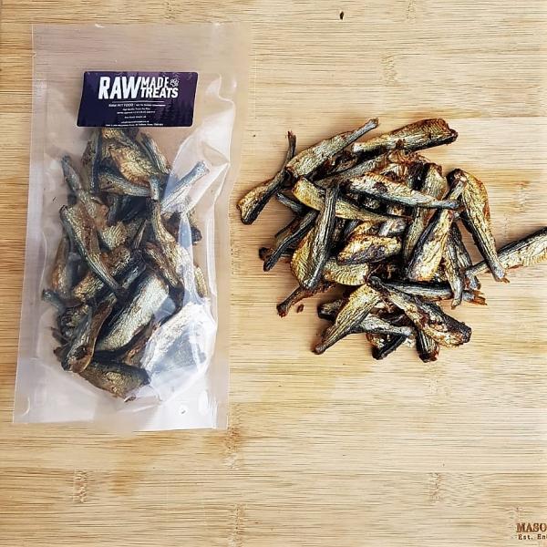 Dried Sprats 80g pack, Raw Dog Food