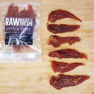 Dried Chicken Breast raw dog food treat