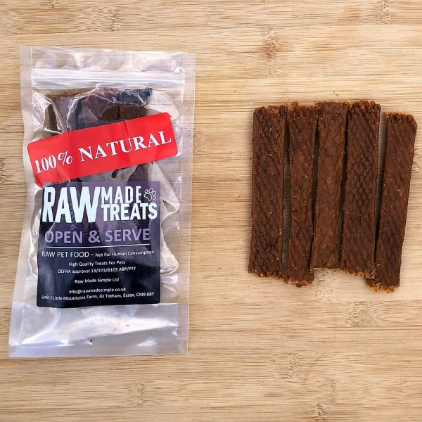 Dried turkey Strips 5 Pack, raw dog food