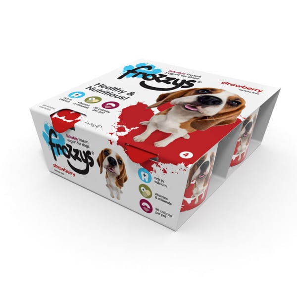 Frossys Frozen Yogurt For Dogs Strawberry 4 Pack