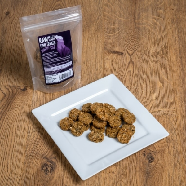 Dried Red Fish Biscuits, raw made simple dog food treat
