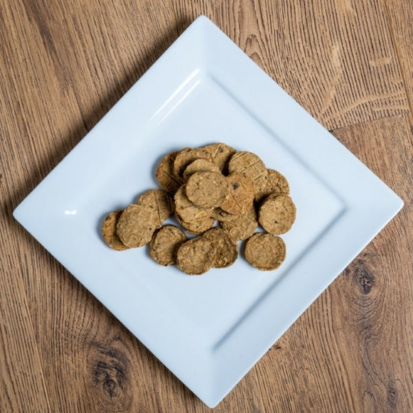 Dried Salmon Fish Biscuits, raw made simple dog food treat
