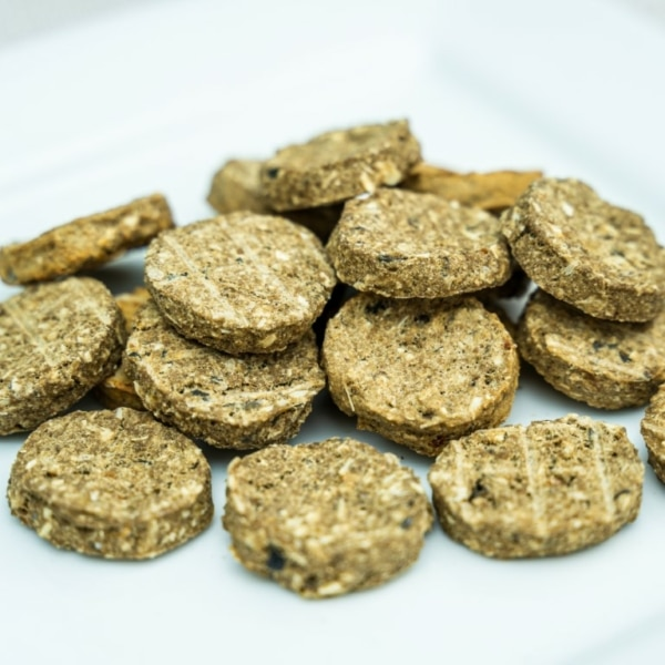 Dried White Fish Biscuits, raw made simple dog food treat